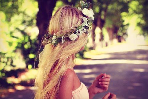blonde flower crown
